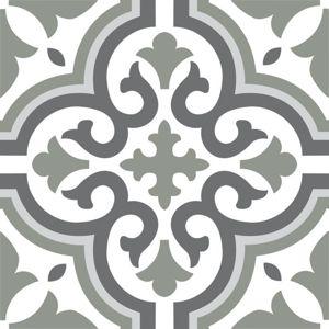 Wickes Melia Sage Patterned Ceramic Tile 200 X 200mm Wickes Co Uk Wickes Patterned Floor Tiles Tile Patterns