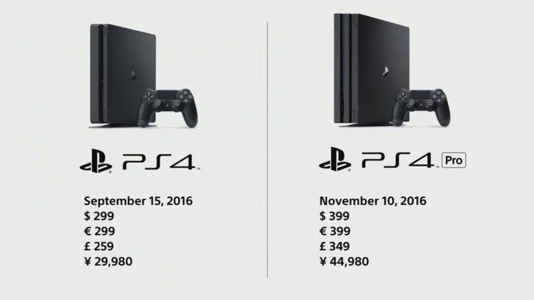 PS4 Pro e PS4 Slim