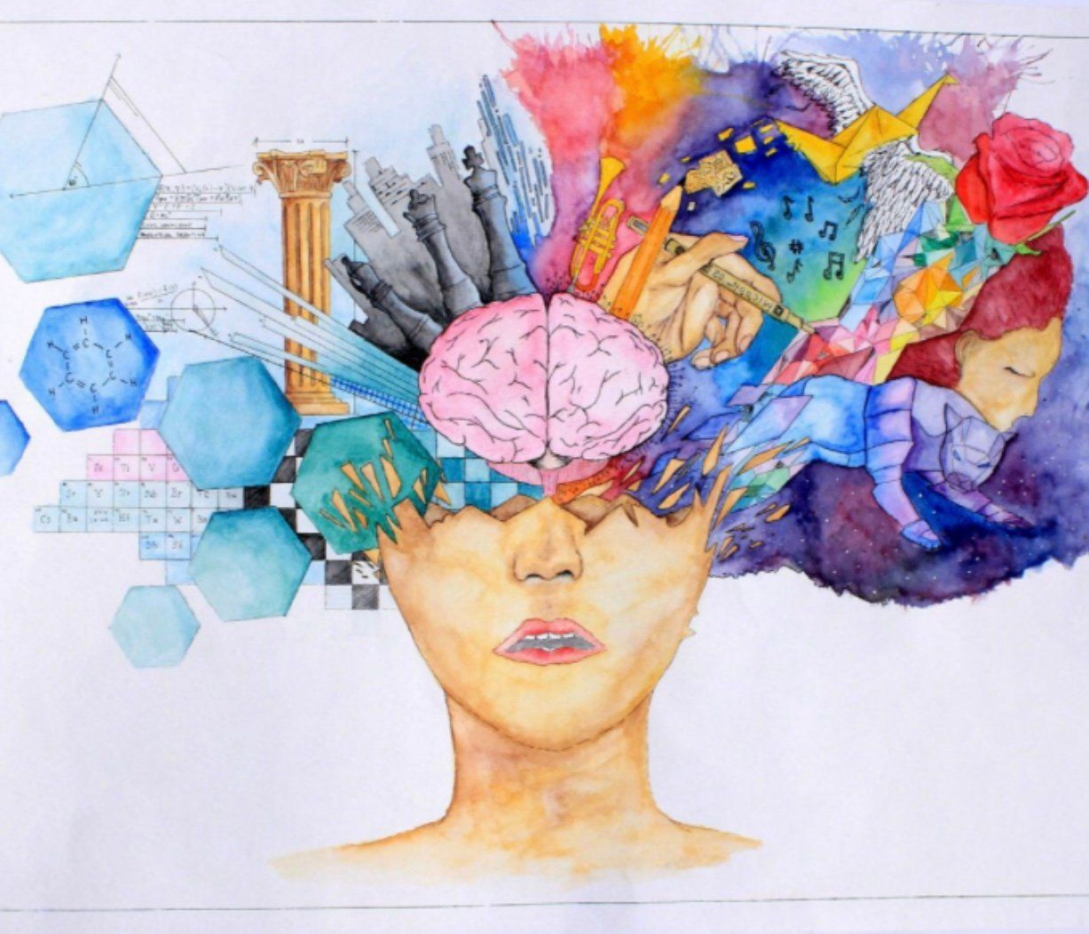 Color Theory Interiordesign: Brain Art, Brain Painting, Art