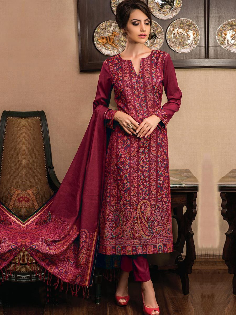 309c840ab2 Rivaa Pashmina Suits Collection | Pashmina Collections | Embroidery ...