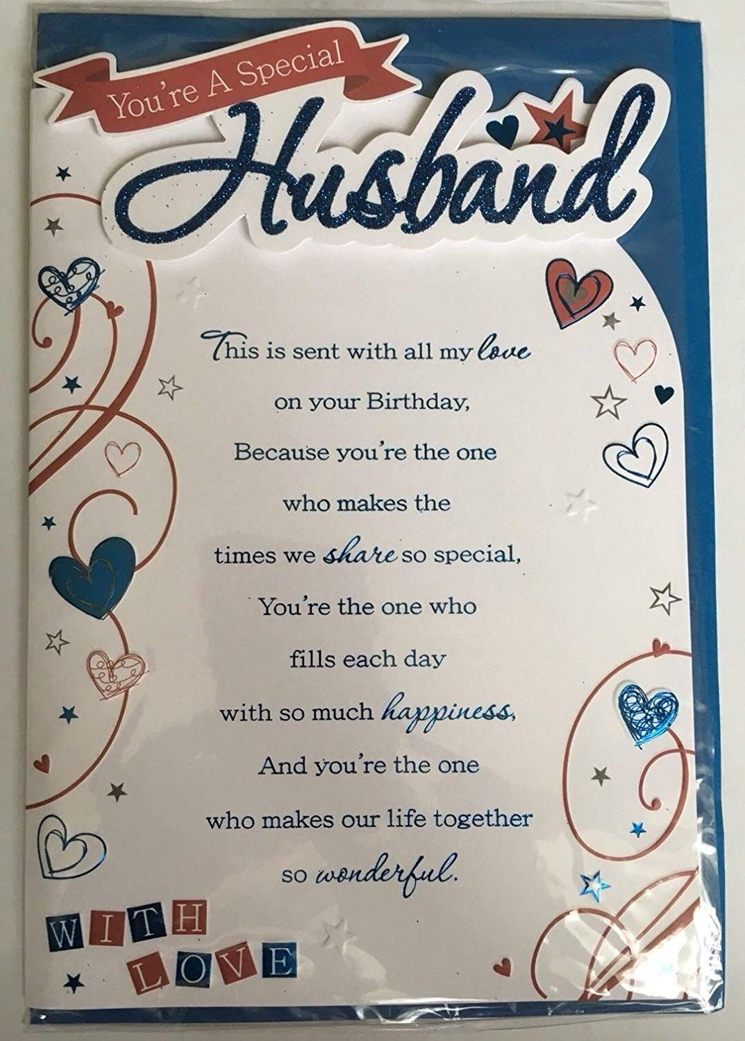 You Re A Special Husband With Love 3d Birthday Greeting Card Amazon C Birthday Message For Husband Happy Birthday Husband Quotes Birthday Wish For Husband
