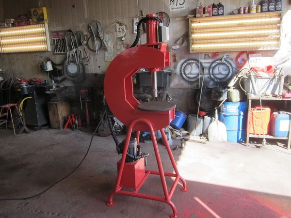 Homemade C Frame Hydraulic Press Homemade Tools Metal Workshop Metal Working Tools