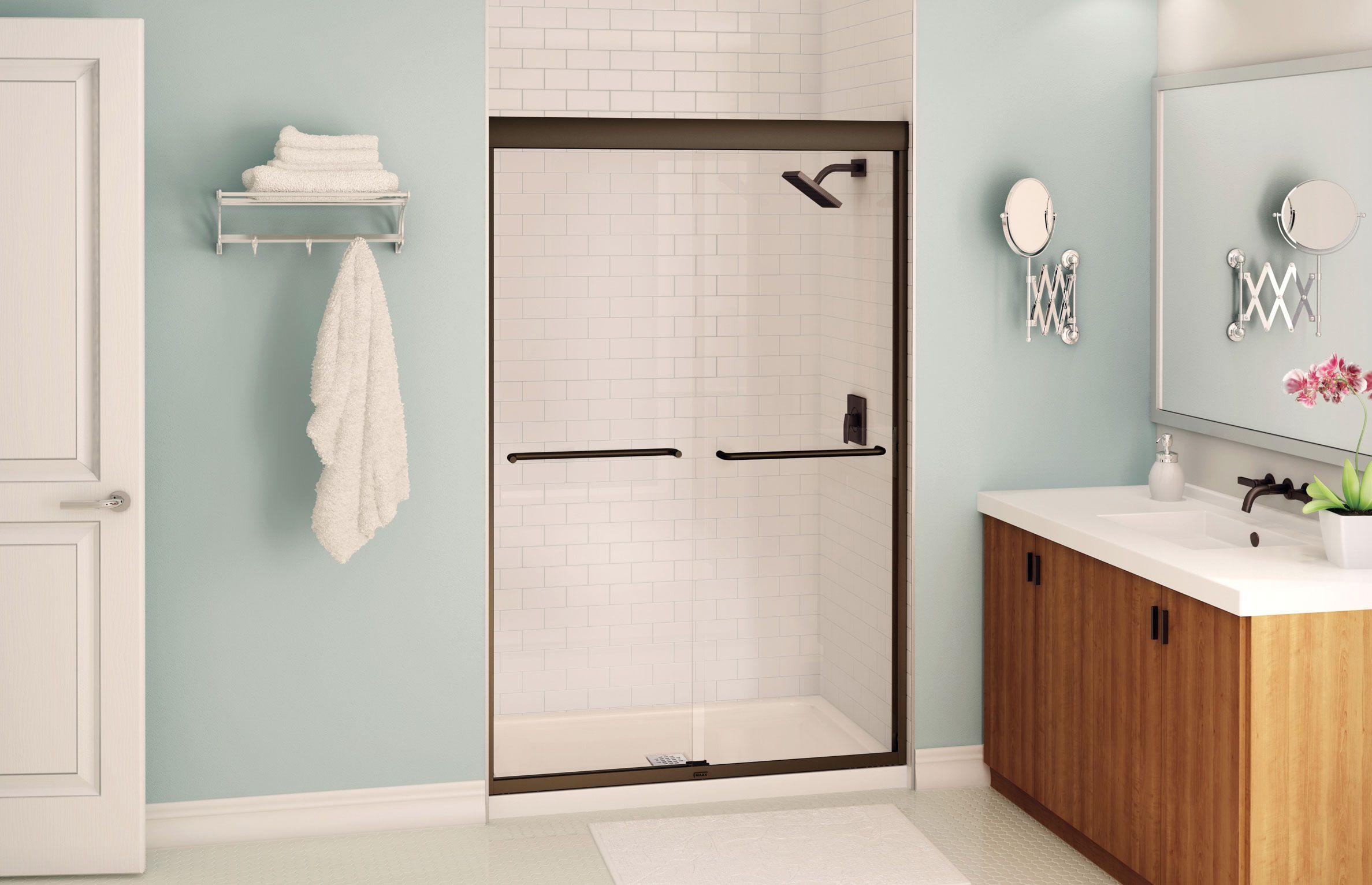 Aura Sliding Shower Door 43 47 X 71 In 6 Mm Maax