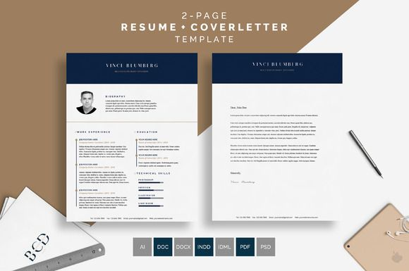 ResumeCv  Vince By BcdStudio On Creativemarket   Graphic