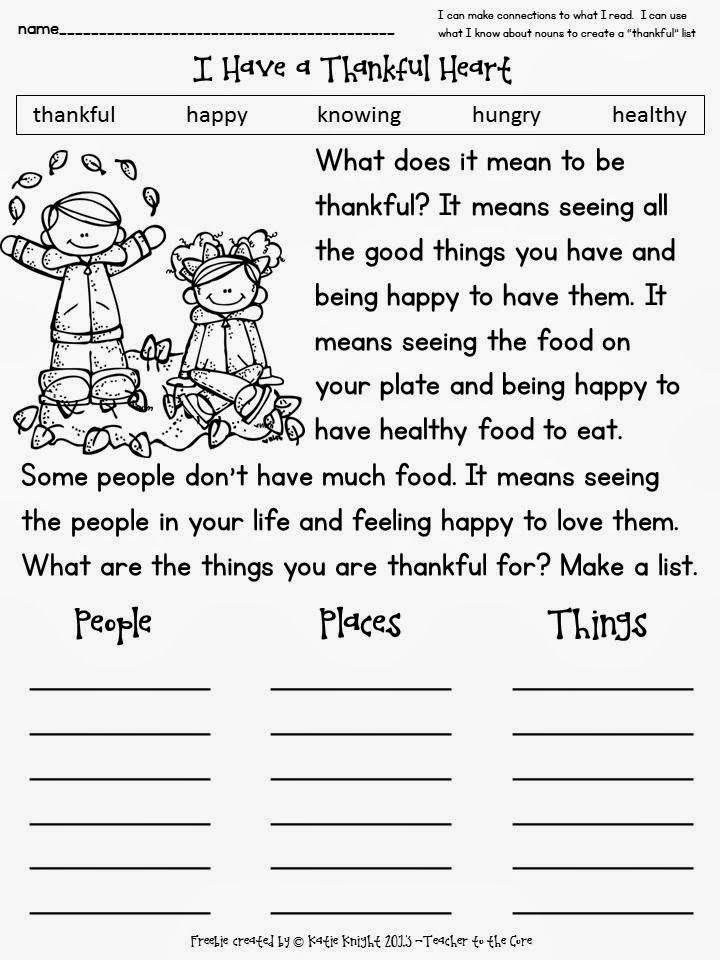 Thankful Heart Freebie From Teacher To The Core Jpg 720 960 Pixels First Grade Writing Thanksgiving School Thanksgiving Classroom The first thanksgiving worksheets
