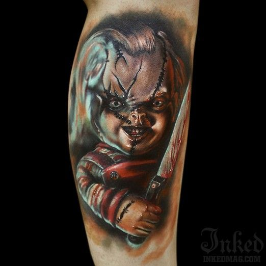 Tententattoo: Creepy Chucky Tattoo By George Mavridis