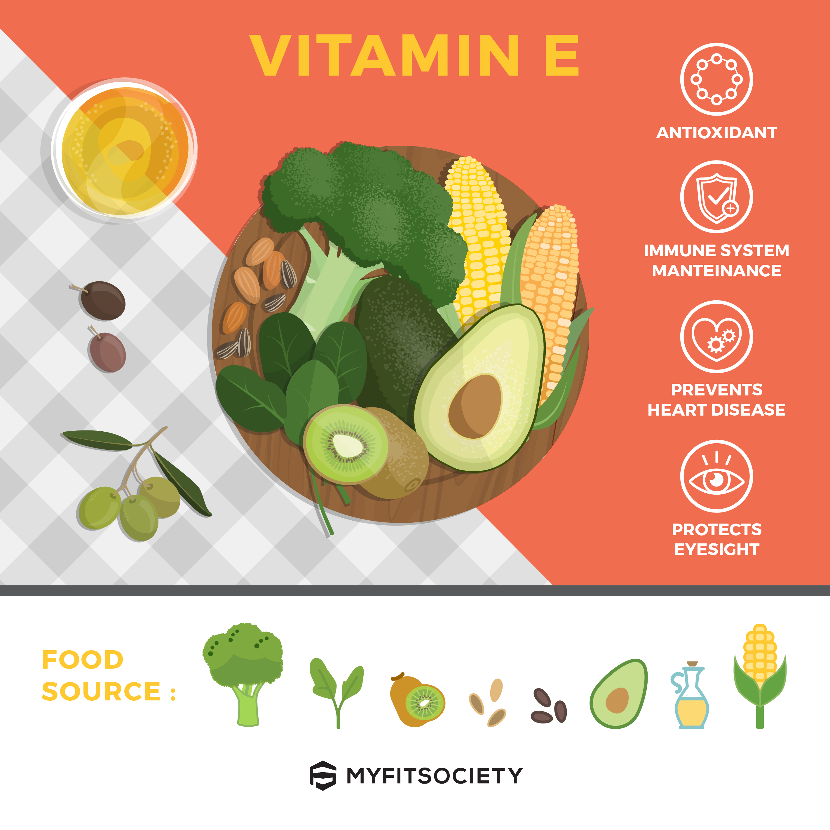 Vitamin E is important to keep us healthy, helps prevent