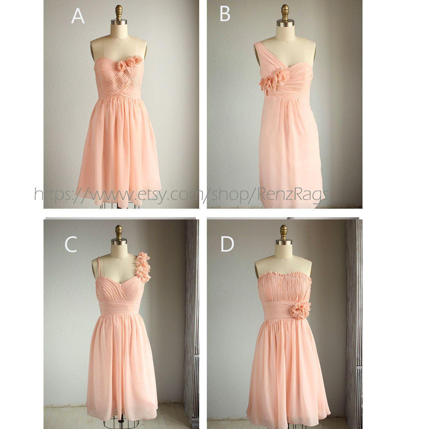 Mix+Match+Bridesmaid+Dresses++Romantic++Peach+Color+By+Renzrags,+$9800