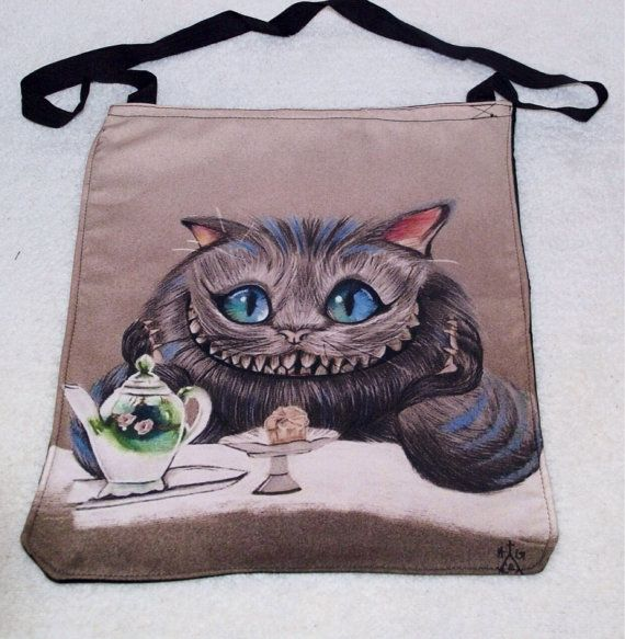 Hey, I found this really awesome Etsy listing at https://www.etsy.com/listing/192370649/cheshire-cat-tote-bag