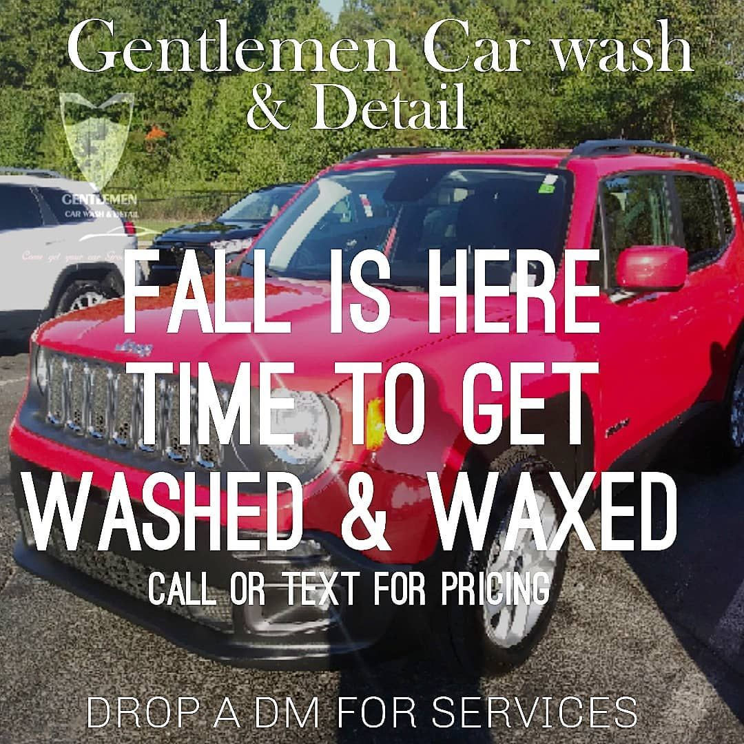 NOW!!!!! Giving out a Wax and Wash package at a reasonable price during the fall months to give your vehicle protection during the winter! ⚪️⚫️🔴