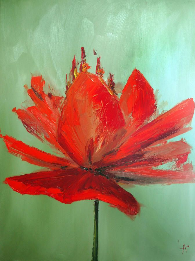 Large single flowers single flower painting projects for Painting large flowers in acrylic