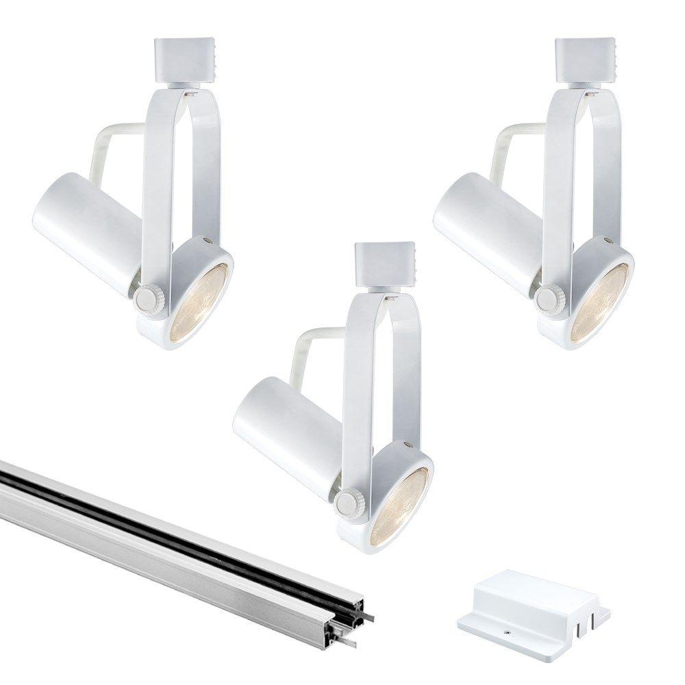 jesco lighting kithhvwhwh classic par line voltage track  - jesco lighting kithhvwhwh classic par line voltage track light kit small gimbal