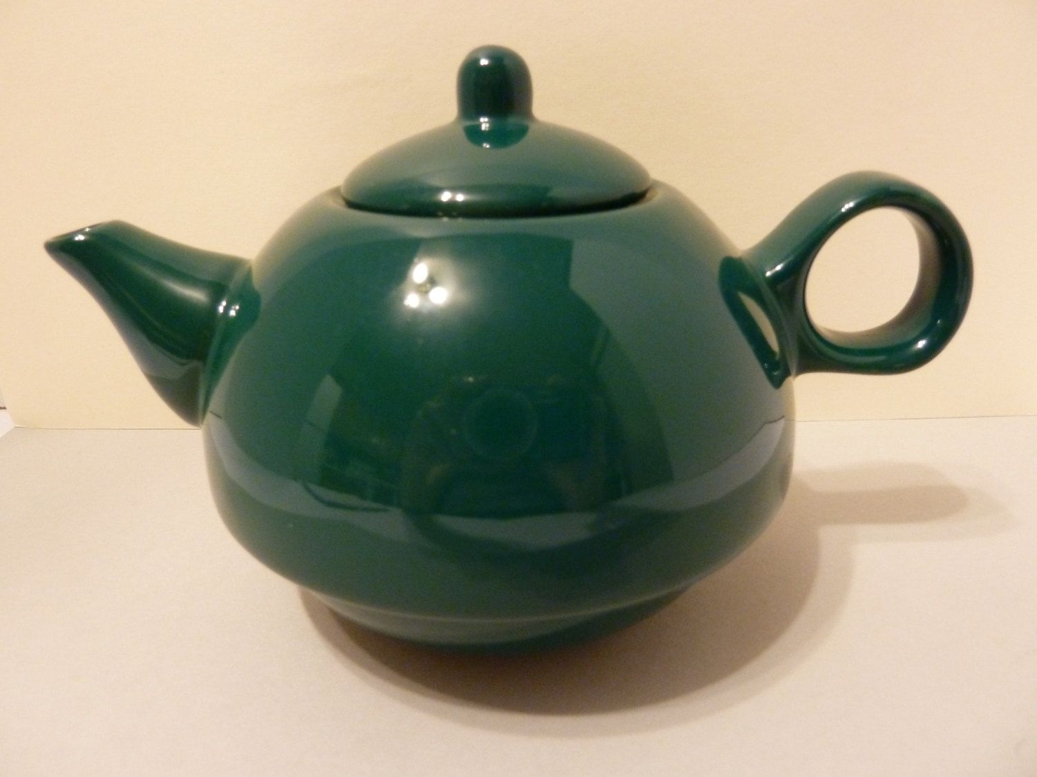 Single Serve, Tea Pot, Unmarked Maker, Dark Green in Color by ...