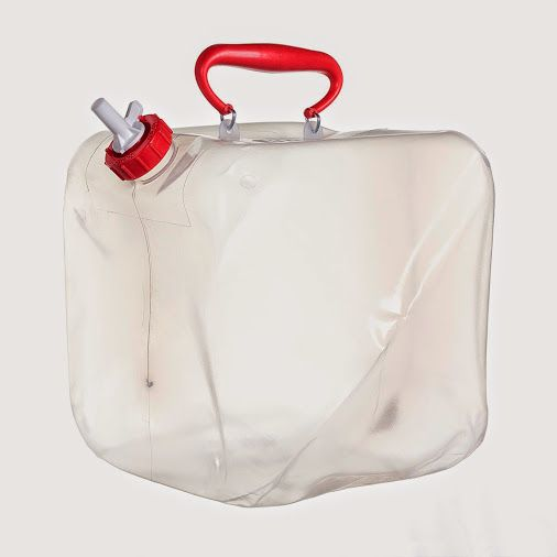 RELIANCE FOLD A CARRIER 5 GAL.  - The original, and still finest quality collapsible water container on the market. The Fold-A-Carrier is a durable collapsible water container that is made from high-grade polyethylene. Even in extremely cold temperatures the Fold-A-Carrier remains flexible.
