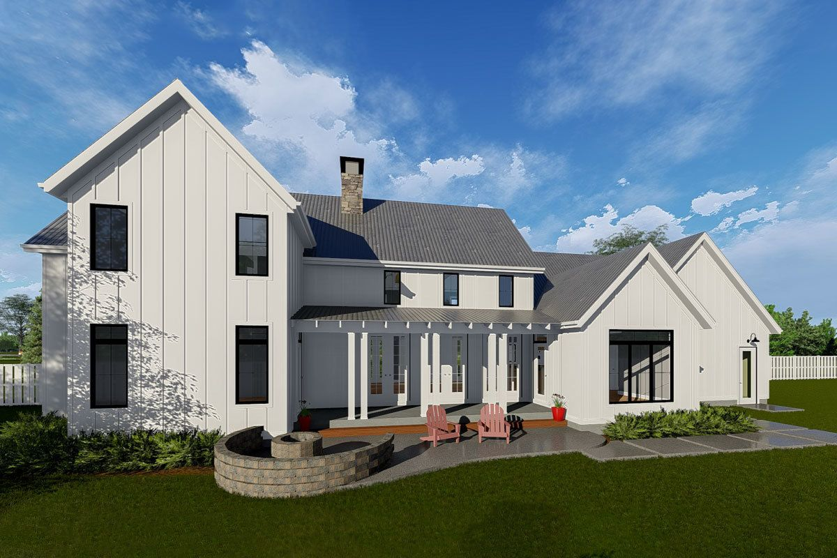 Plan 62728DJ Classic Farmhouse with Twostory Great Room