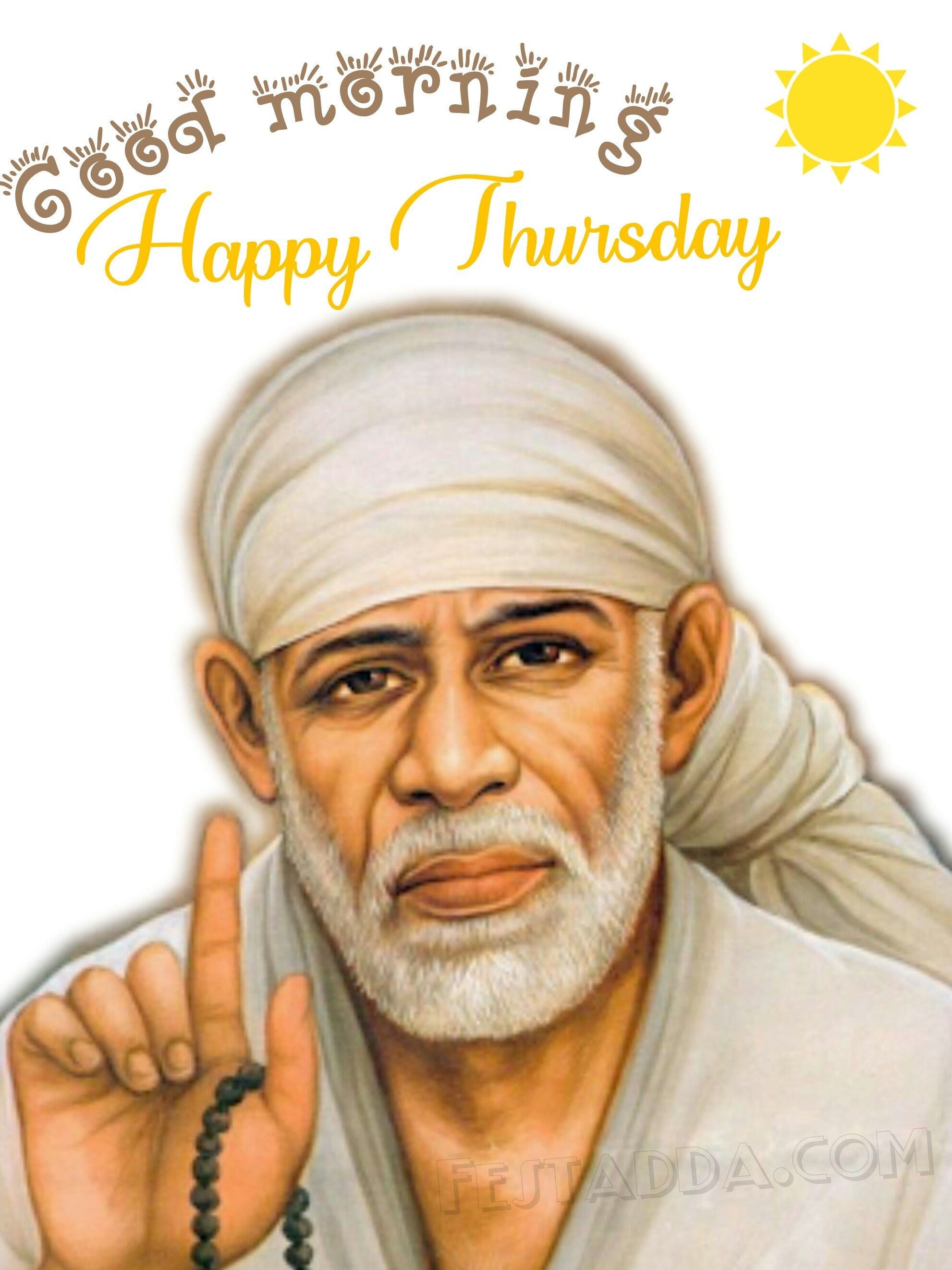 Download Sai Baba Images Hd Happy Thursday Images Good Morning Thursday Images Good Morning Happy Thursday
