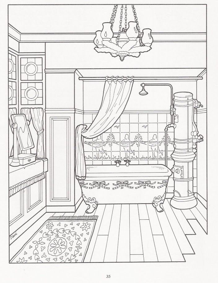 Lineart: The Victorian House Coloring Book - Als Line-Art oder Line ...