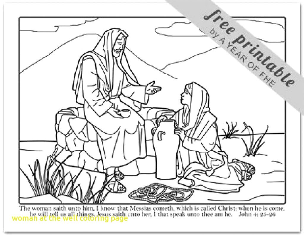 13+ Woman at the well coloring page info