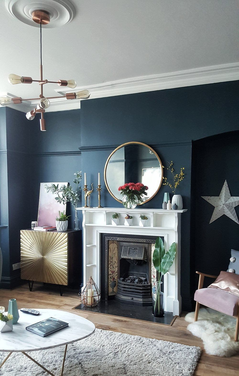 Interior Design Blue Living Room 16 Blue Living Room Ideas That Wont Turn You Blue In 2 In 2020 Blue And Gold Living Room Blue Living Room Decor Blue Walls Living Room