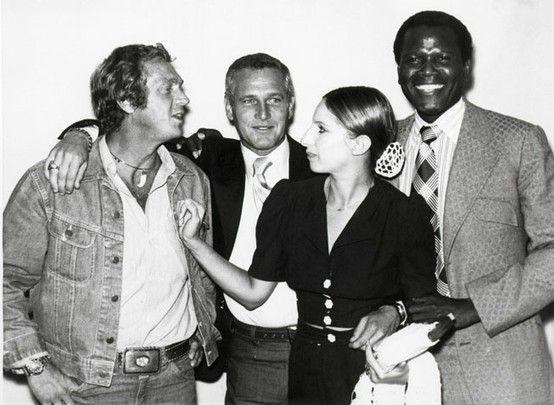 McQueen, Newman, Poitier and Babs.