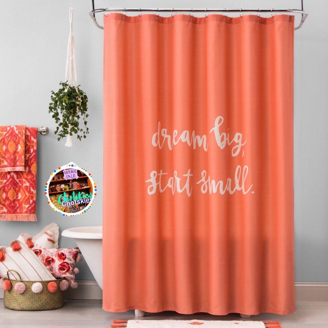 Dream Big Shower Curtain Georgia Clay 72 Big Shower Dream Big Shower Curtain