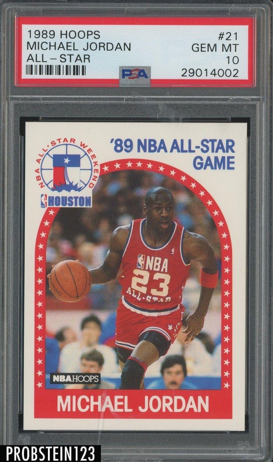 1989 hoops all star 21 michael jordan chicago bulls psa