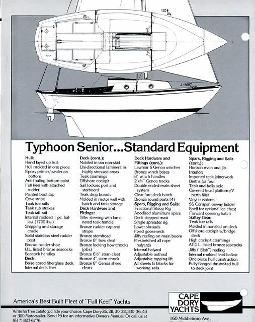 cape dory typhoon senior 22   Sailboats 22' - Cape Dory