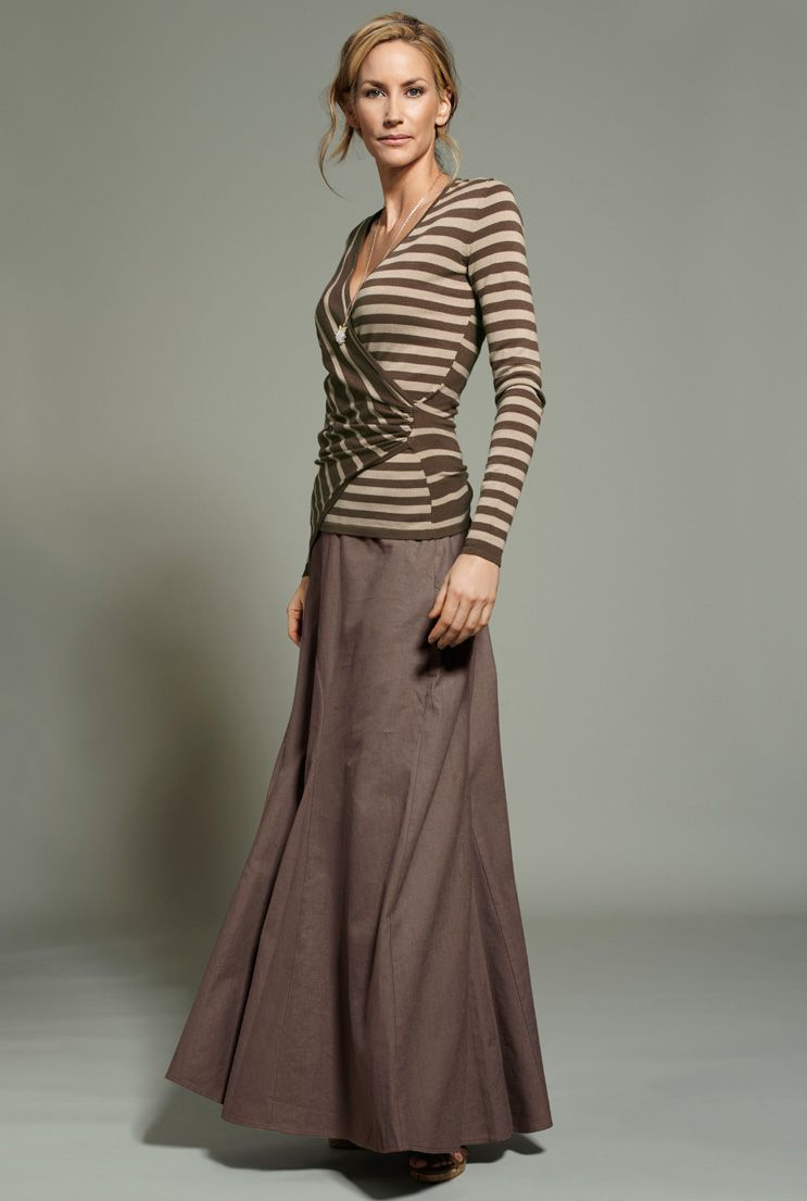 0c0d457658 Long Skirts For Tall Girls- Linen Mix Maxi Skirt In Cocoa At Long Tall  Sally was 109 now $59