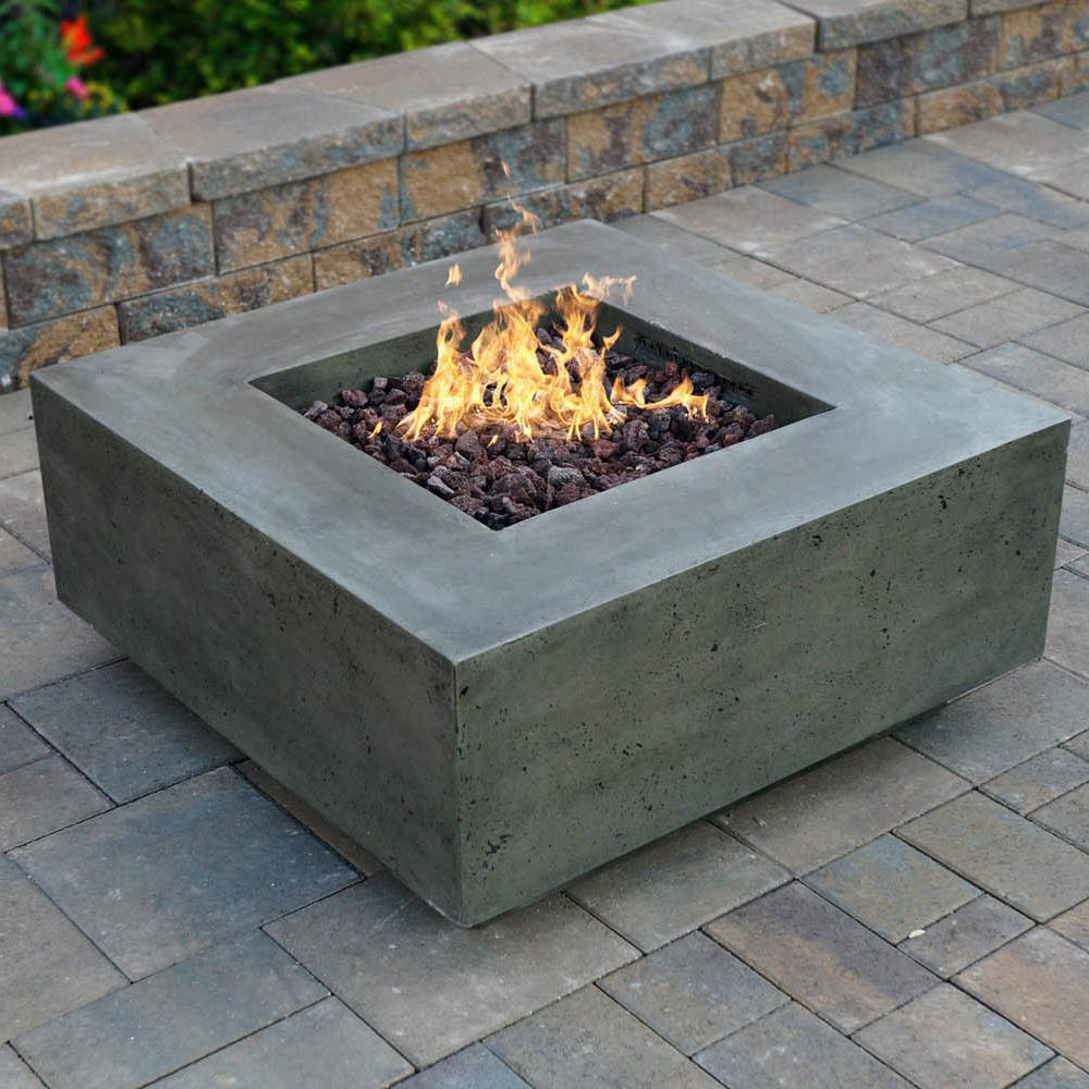 Prism Hardscapes Tavola Ii 36 Inch Propane Square Fire Pit Table Pewter Ph 406 4lp Bbqguys Gas Fire Table Fire Table Outdoor Fire