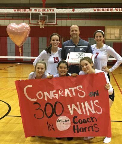 Woodrow S Volleyball Coach Jim Harris Hits 300 Win Milestone Coaching Volleyball 300 Win Woodrow