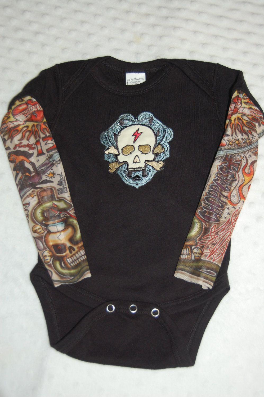 Black Heartbreaker tattoo sleeved onesie or tshirt with