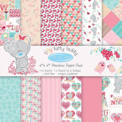 12 me to you premium 6x6 papers for cardmaking /& scrapbooking