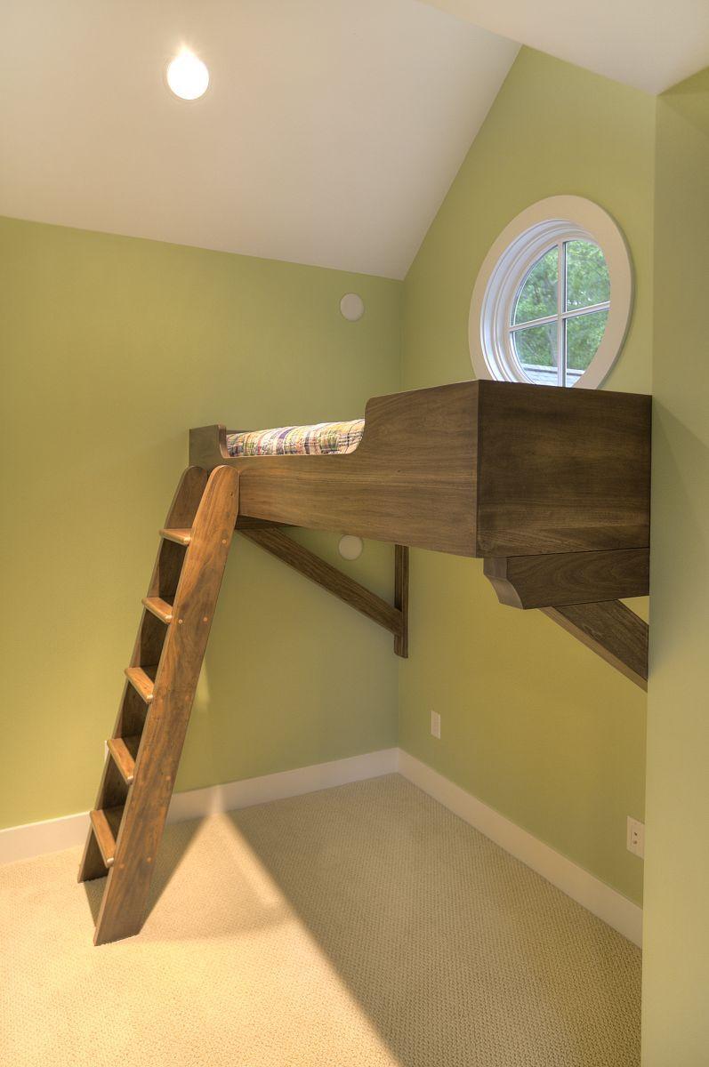 Custom loft bed ideas  small space solution  MAC Custom Homes  Build a houseboys room