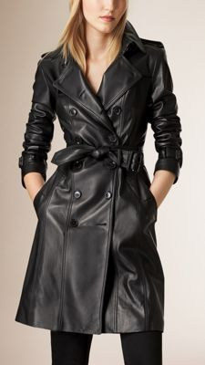 Lambskin Trench Coat | Fashion | Blazer jackets for women
