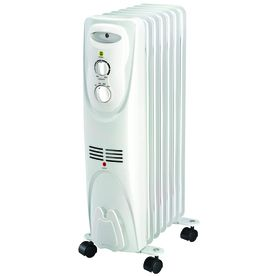 Utilitech 1500 Watt Oil Filled Radiant Tower Electric Space Heater Lowes Com Space Heater Radiator Heater Heater