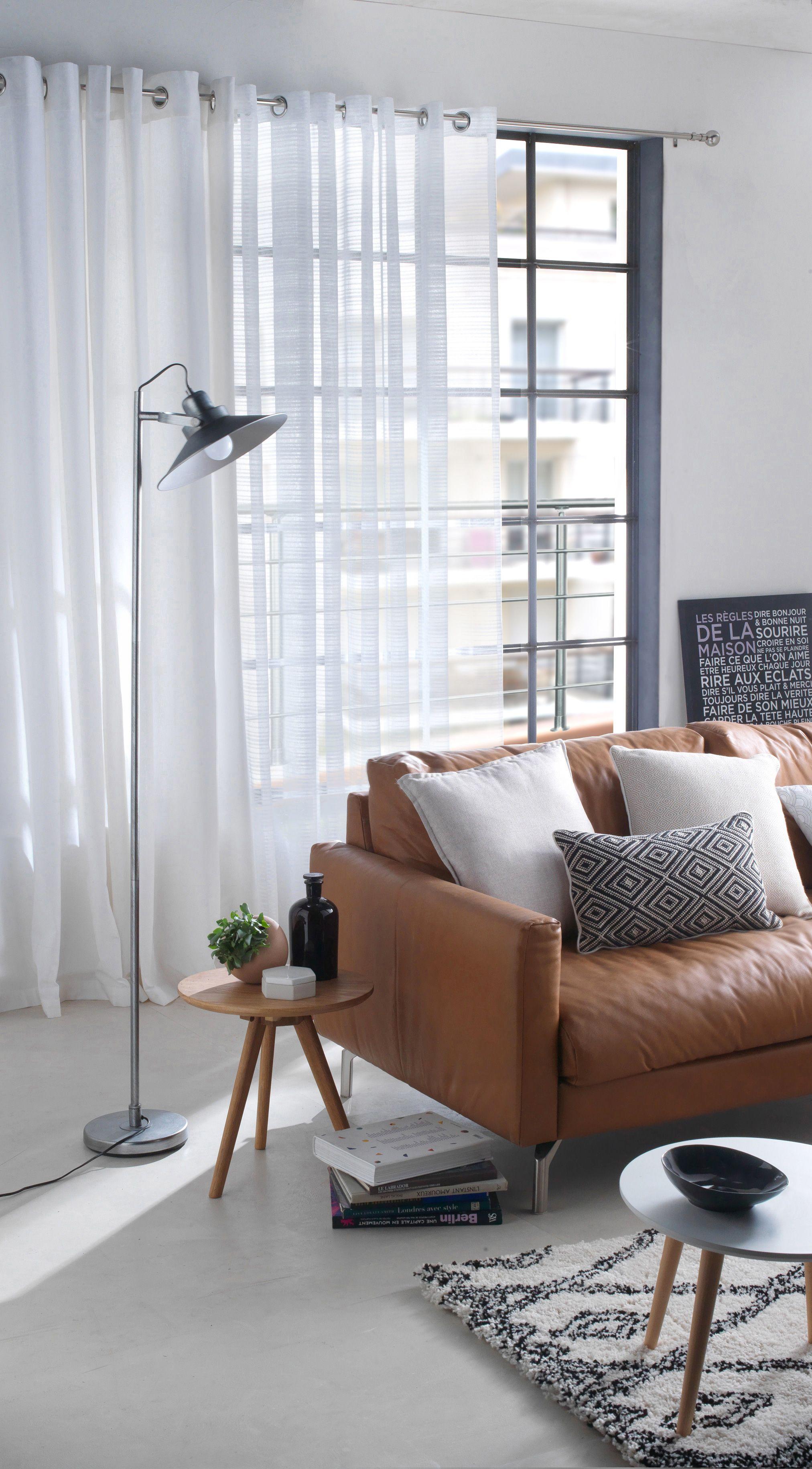 pour une ambiance zen optez pour les rideaux zen xl blanc accrocher aux fen tres devotre. Black Bedroom Furniture Sets. Home Design Ideas