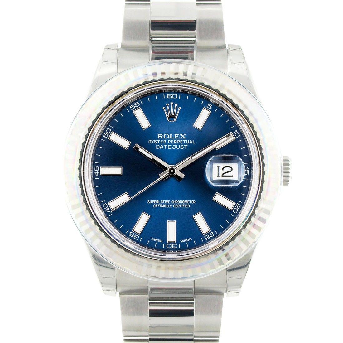 Rolex Datejust Blue Dial 41mm