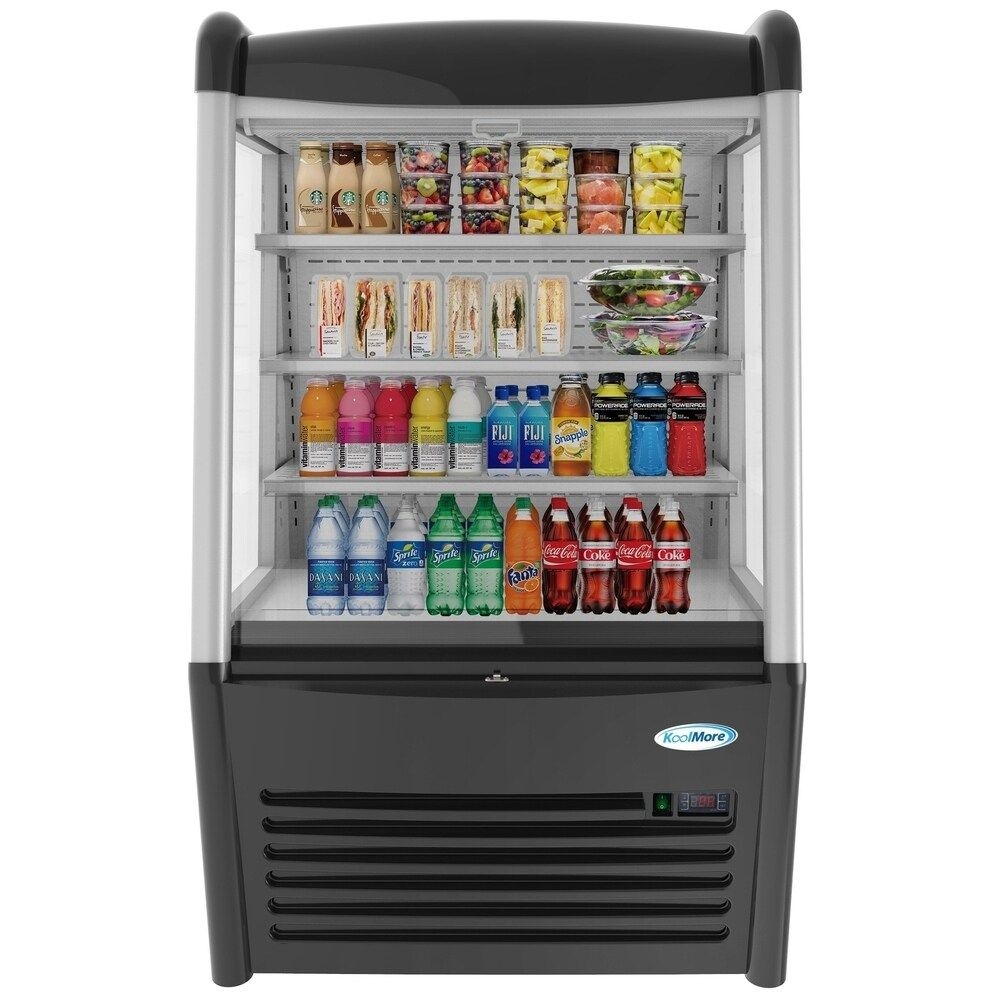Koolmore 36 Open Air Merchandiser Grab And Go Refrigerator With