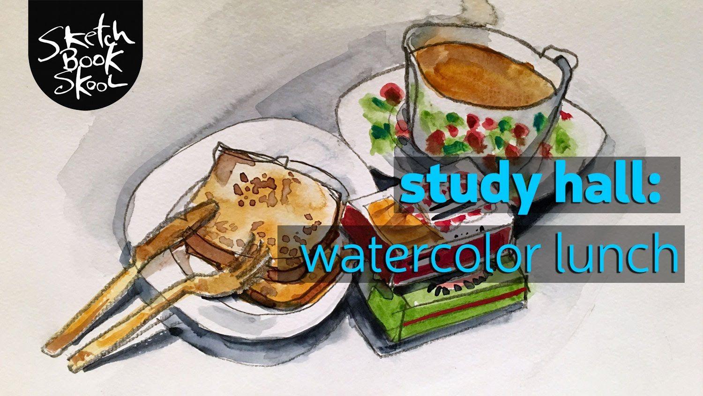 Study Hall Watercolors In 2019 Watercolor Sketchbook