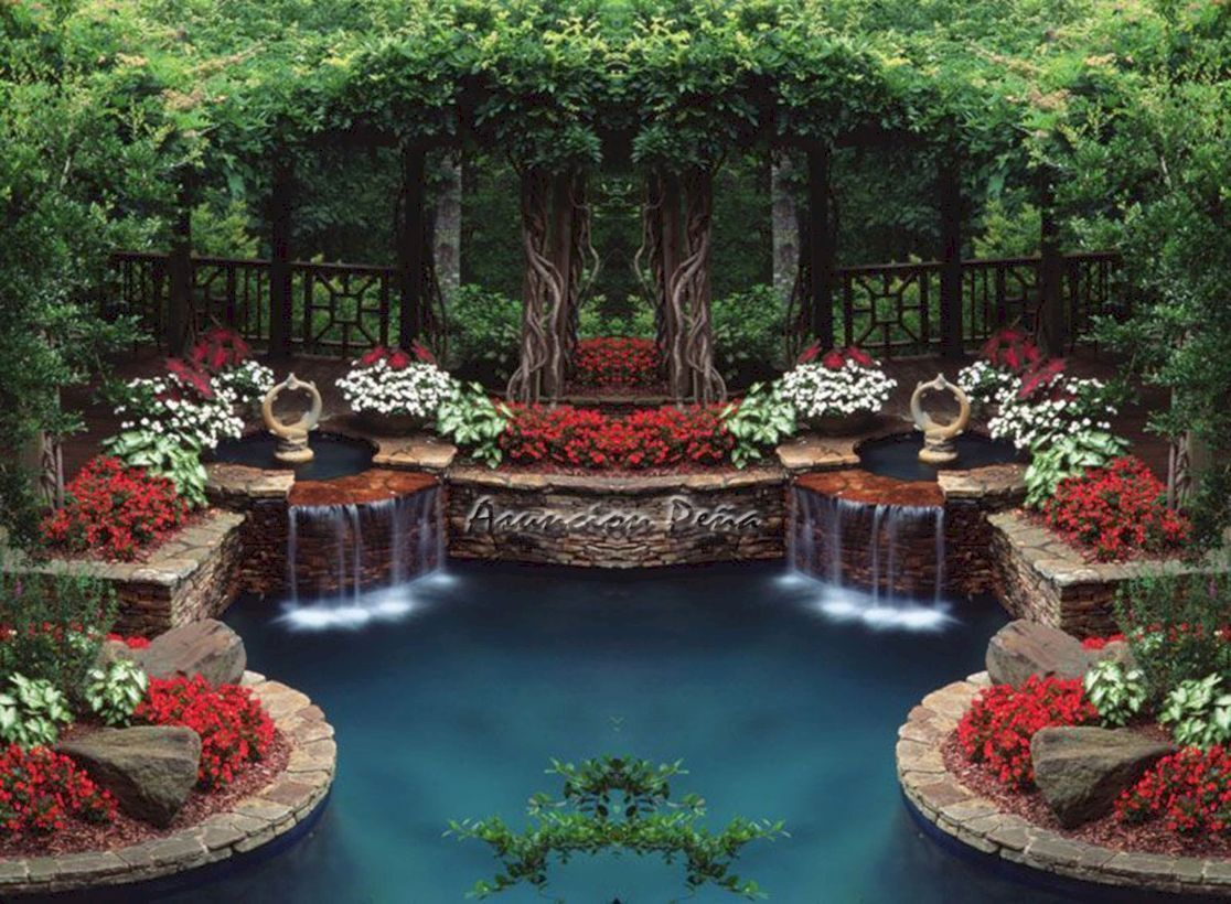 Garden, Amazing gardens, Garden pond, Garden waterfall, Garden decor, Ponds backyard - 48 Amazing Garden Decor Ideas -  #Garden