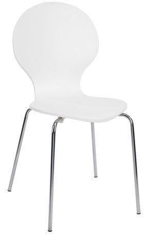 Krzesło Tommerup Chrombiały Jysk Westwing Krzesła Do