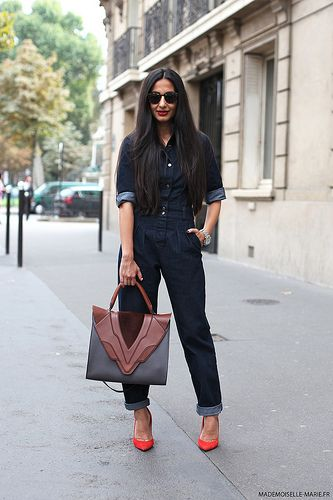 great denim. #NausheenShah in Paris.