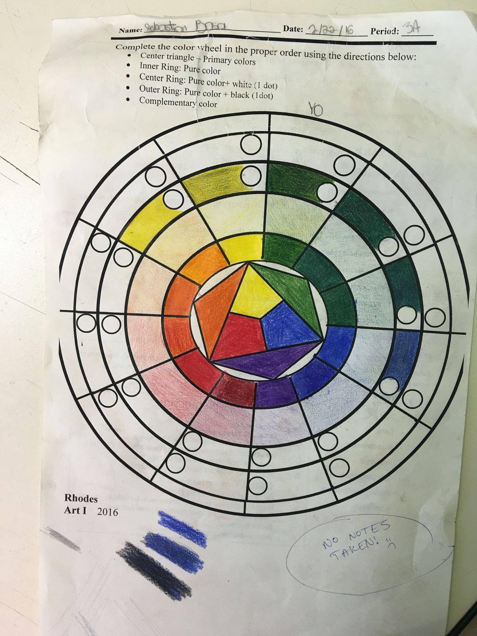 Color wheel (2/26/16)