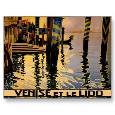 Venise et le Lido ~ Vintage Venice Italy Travel Post Card by TheEclecticImage