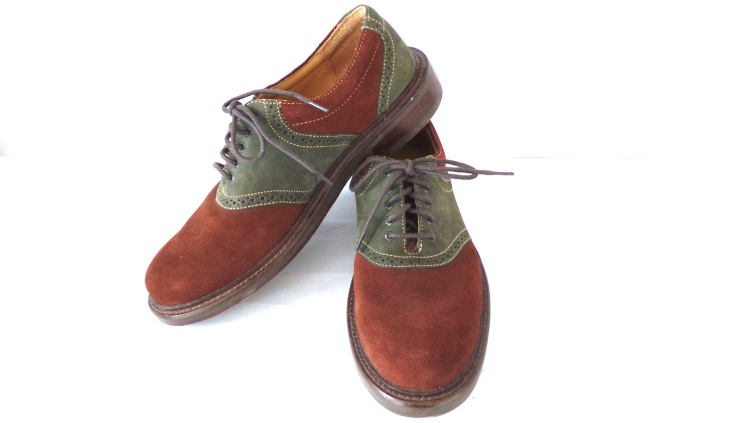 ORVIS Footwear Suede Saddle Oxford Shoes, Like New, Size 8