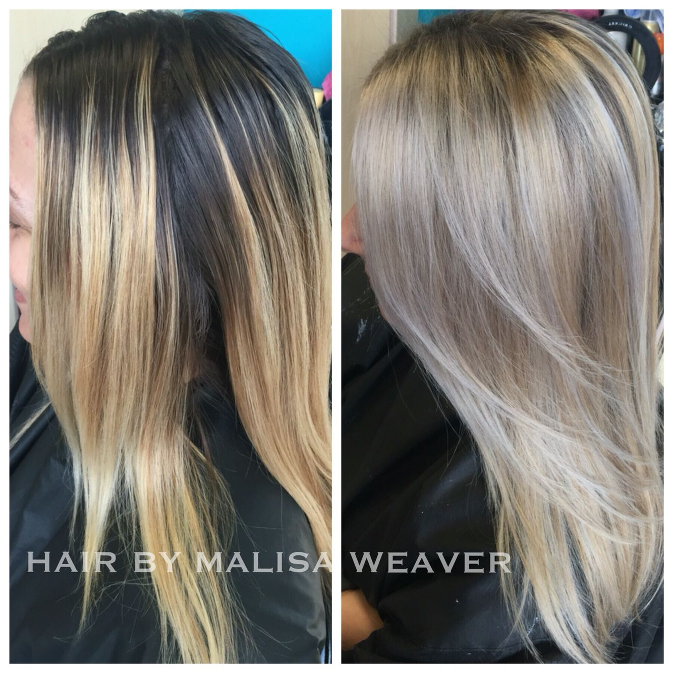 Before After Grown Out Balayage To Blendedblonde Icy Platinum