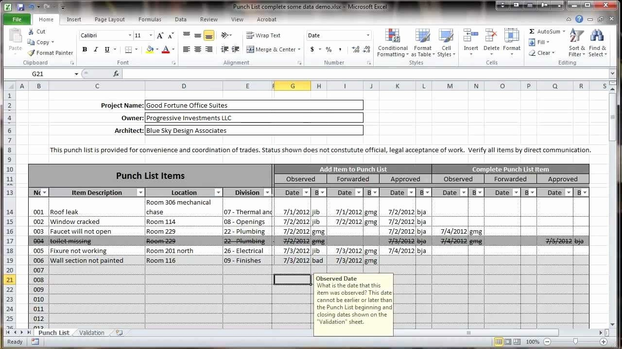 Construction Checklist Template Excel Awesome Excel 2010
