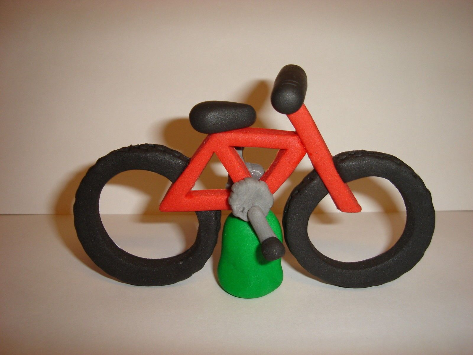Edible Mountain bike cake topper and how to guide some ...