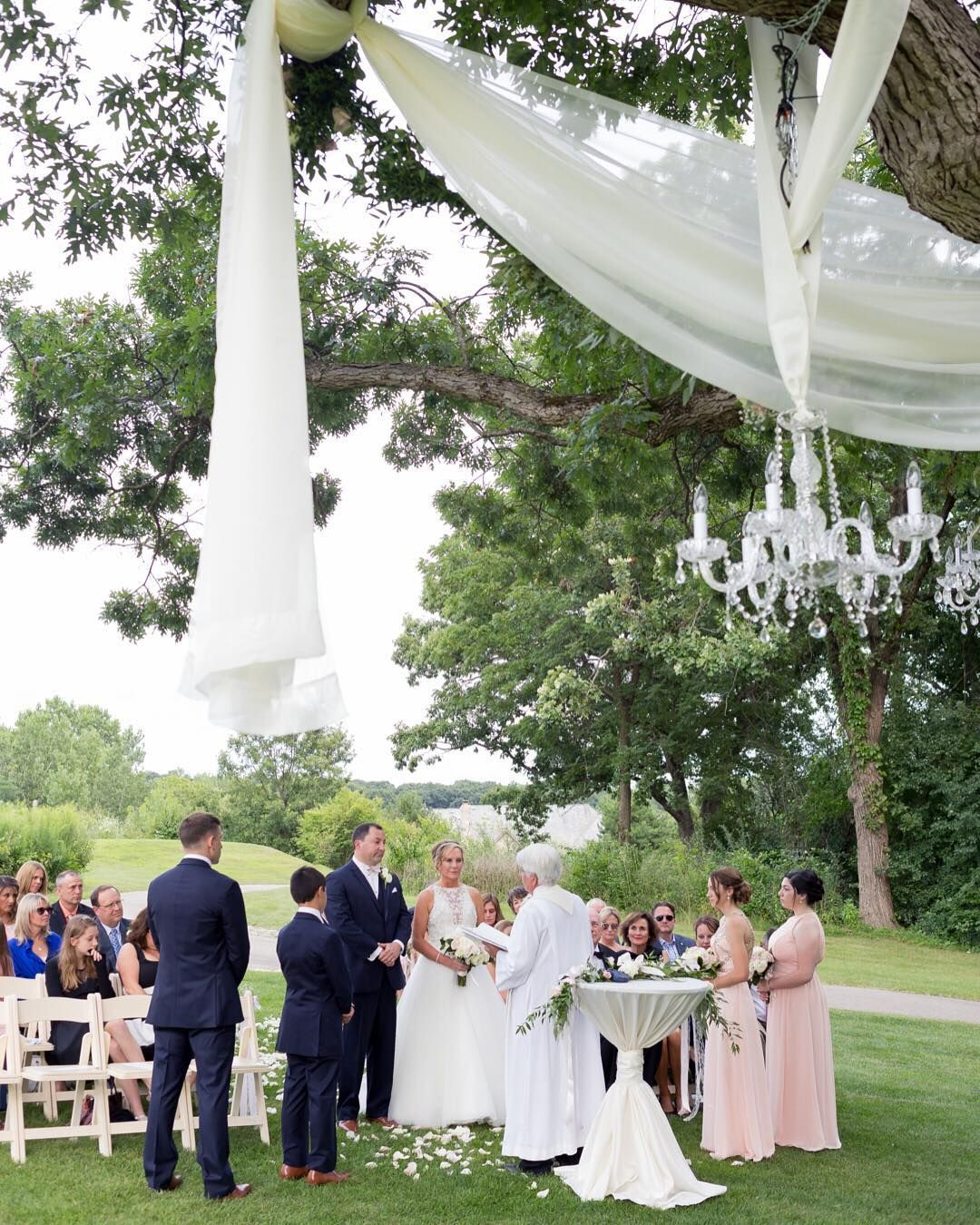 Outdoor Wedding Ceremony At St Charles Country Club Chicago