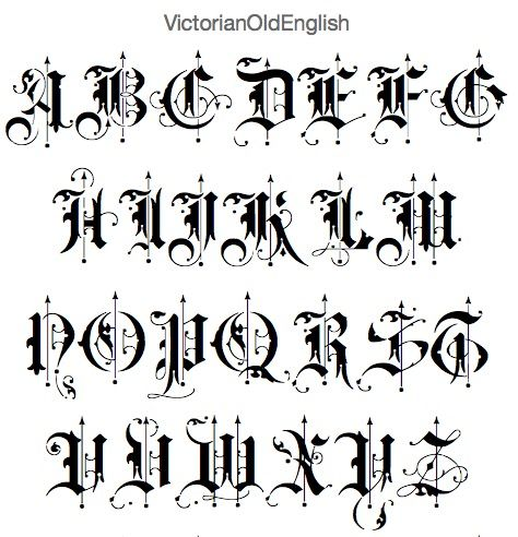 Victorian Old English Font